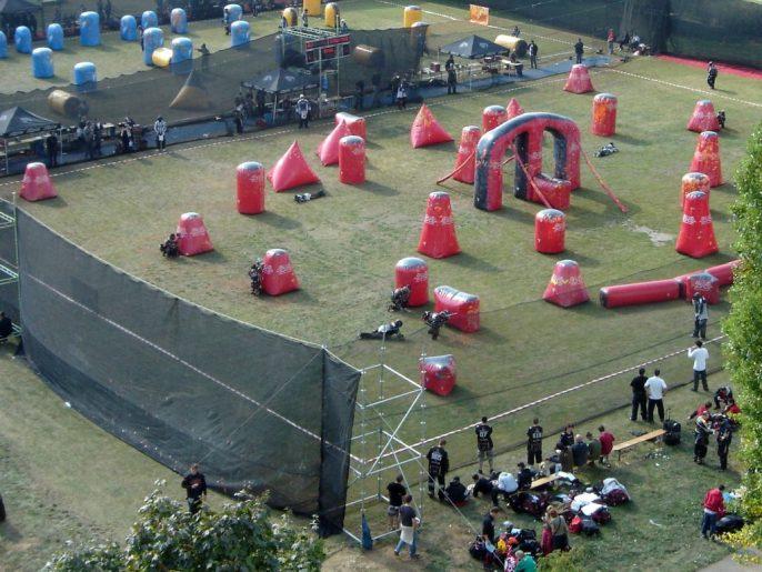 Speedball game field