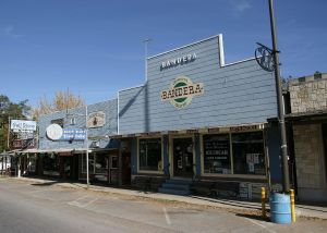 The main Drag with Arkey Blues saloon