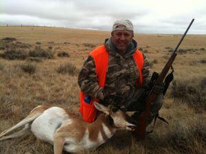 Noah Hochman with a Wyoming Antelope