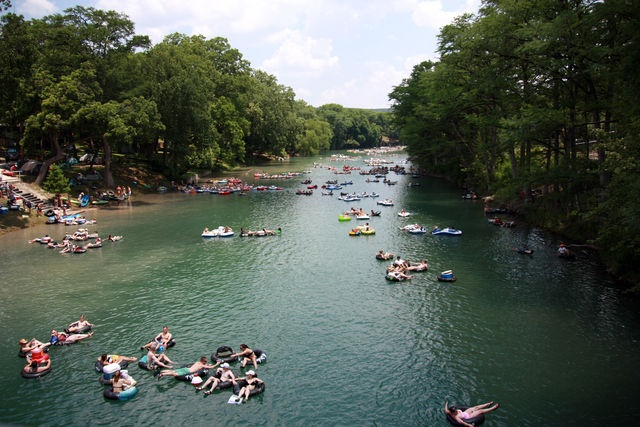 Tubing a River in Texas