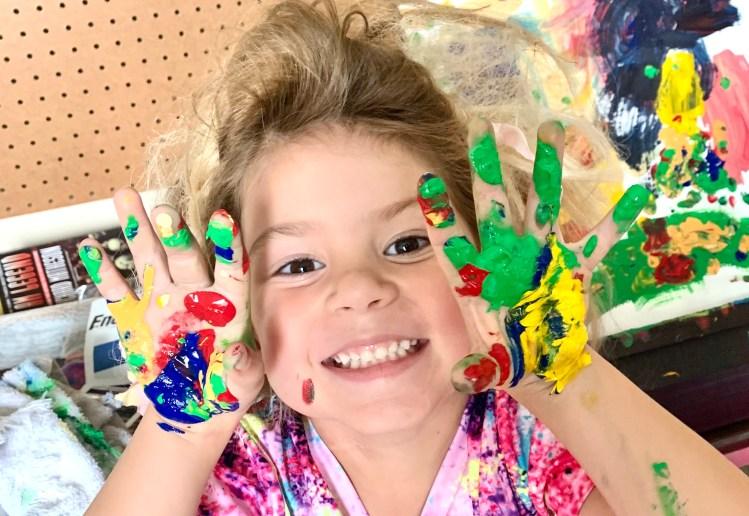 Layla fingerpainting