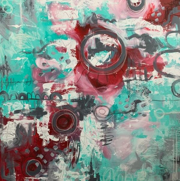 abstract mixed media art on canvas