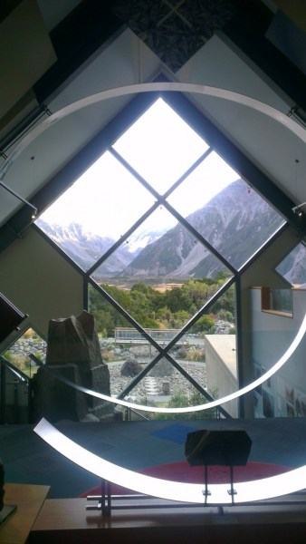 The magnificent view from the DOC office, visitors centre.