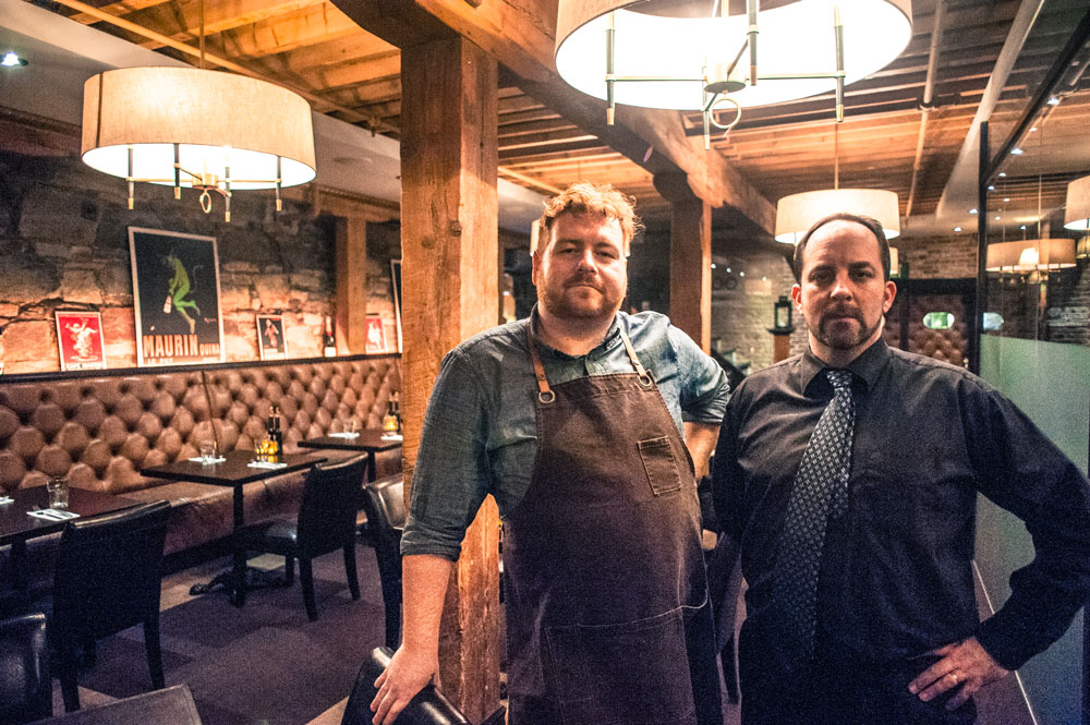 EVOO's Chef Mark McCrowe and Executive Chef Daniel Butler
