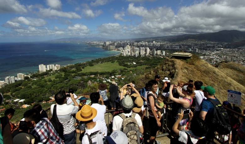 Diamond Head Tourists
