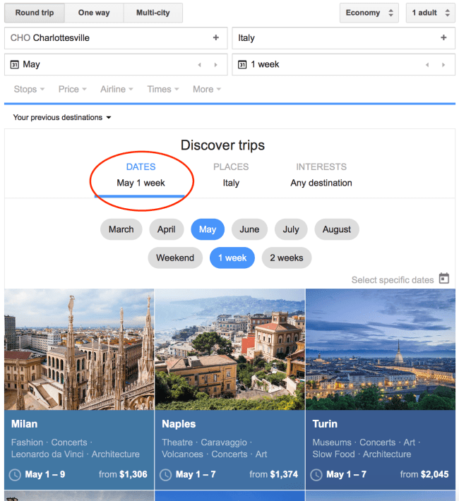 Open-Ended Date Search - Google Flights 101