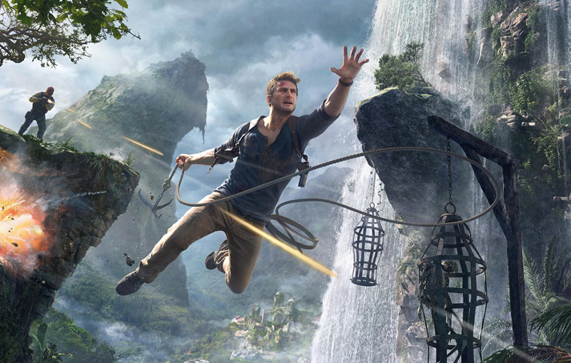 Uncharted 4 Drake Jumping