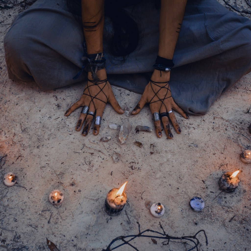 Witch doing Divination