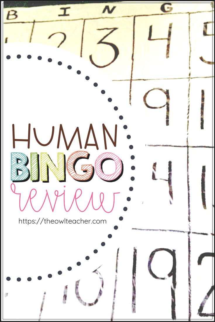 Review Games: DIY Human Bingo