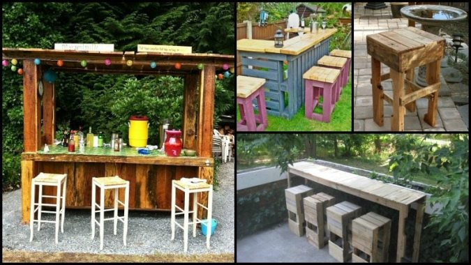 DIY Pallet Outdoor Bar and Stools   The Owner Builder Network DIY Pallet Outdoor Bar and Stools
