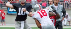 Ohio State quarterback Joe Burrow Throwing