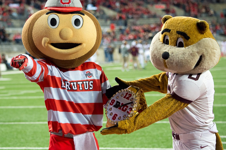 Ohio State Football Brutus Buckeye Goldie Gopher