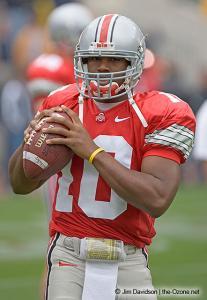 002 Troy Smith Pregame Ohio State Michigan 2004 The Game football