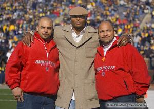 007 Eddie George Ray Mendoza pregame Ohio State Michigan 2005 The Game football
