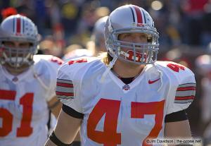 009 AJ Hawk pregame Ohio State Michigan 2005 The Game football