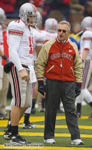 014 Rob Schoenhoft Jim Tressel Ohio State Michigan 2007 The Game football