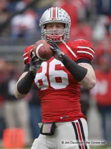 004 Jake Ballard pregame Ohio State Michigan 2008 The Game football