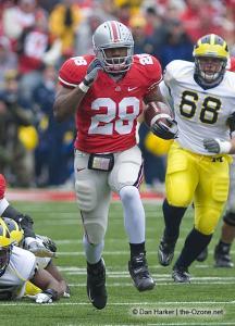028 Chris Wells Ohio State Michigan 2008 The Game football