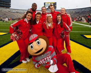 001 OSU cheerleaders Ohio State Michigan 2011 The Game football