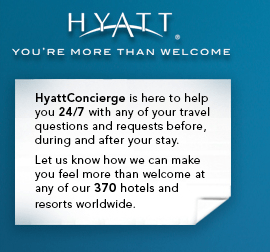 @HyattConcierge