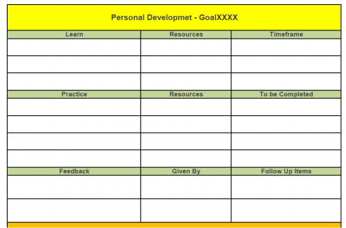Personal Development Template