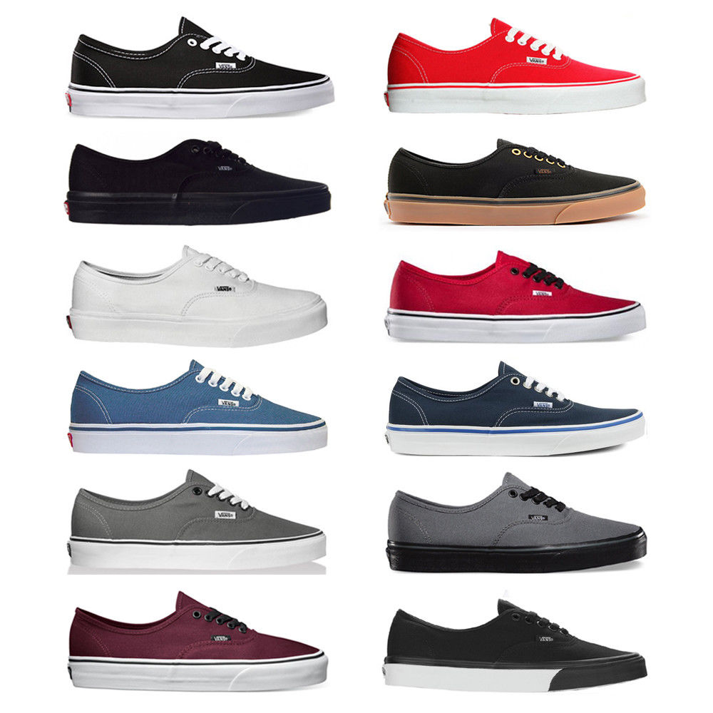 Click to enlarge. HomeFashionMen Vans New Authentic Era Classic Sneakers  Unisex ... 21e8199b3