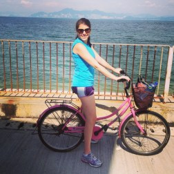 Biking around the island