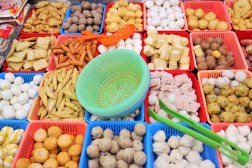 Various types of fishballs