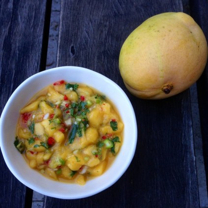Fresh Mango Salsa With Lime, Chilli and Spring Onion