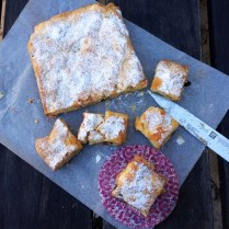 Blondies With Sour Cherries, Macadamia and White Chocolate