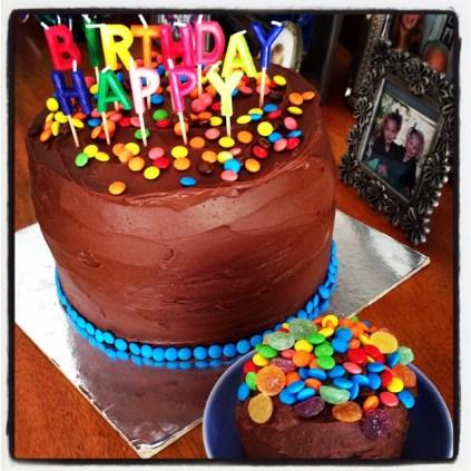 Ombre Pinata Birthday Cake