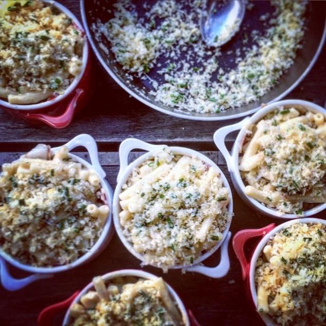 Individual Mac And Cheese With Panko