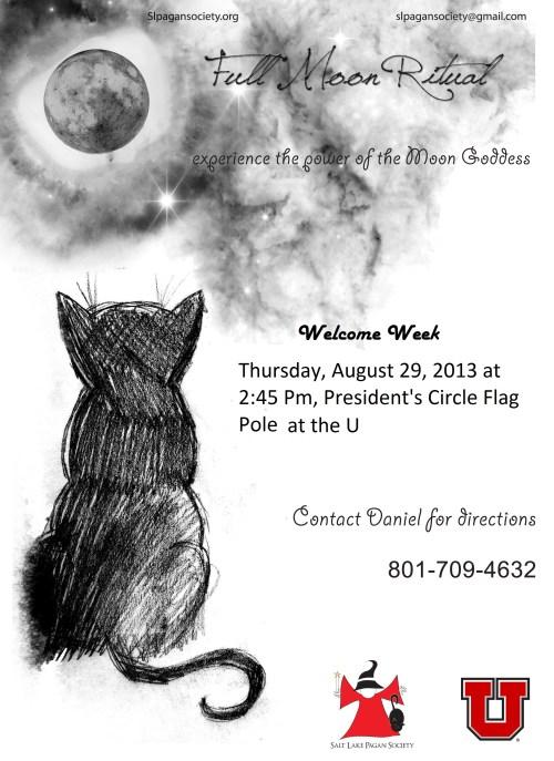 full moon flyer SLPS U Campus August 29, 2013