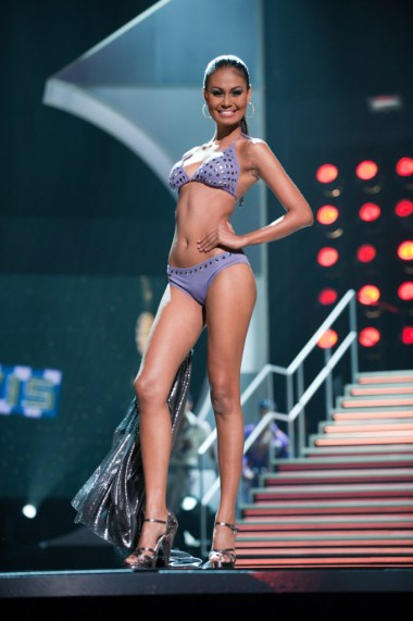 Venus Raj, Miss Philippines 2010, competes in her Dar Be Dar swimsuit during the 2010 Miss Universe Pageant swimsuit competition at the Mandalay Bay Events Center in Las Vegas, Nevada on Monday, August 23, 2010. ho/Miss Universe Organization LP, LLLP