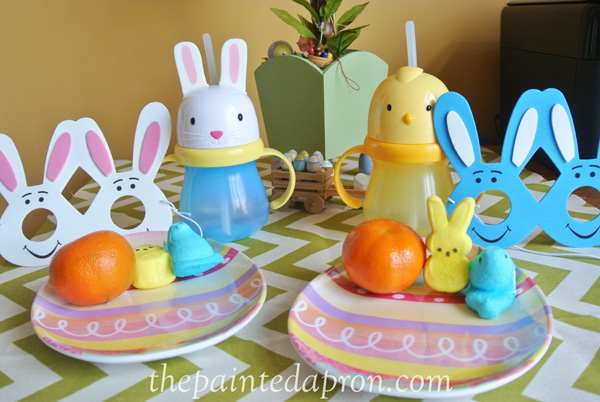 child's Easter table thepaintedapron.com