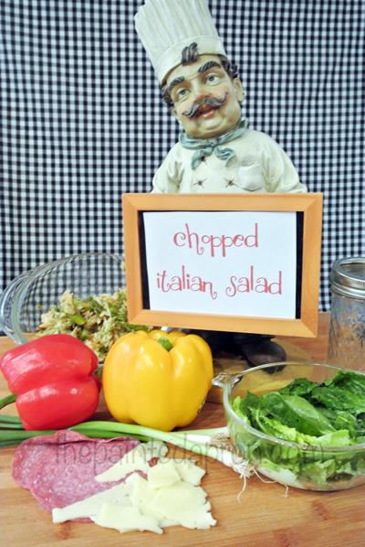 Italian chopped salad thepaintedapron.com
