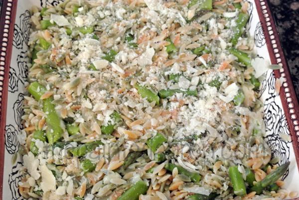 orzo & asparagus3 thepaintedapron.com