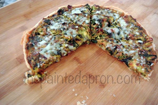 swiss chard pie thepaintedapron.com