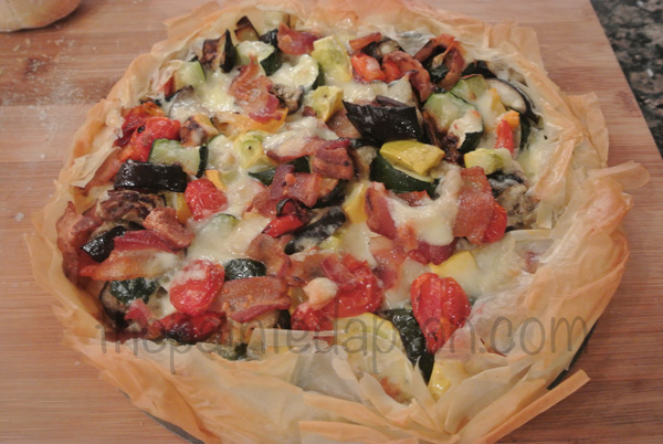 vegetable tart in phyllo thepaintedapron.com