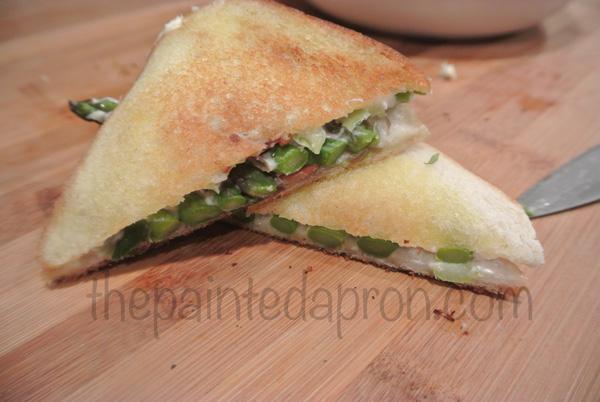 asparagus sanwich thepaintedapron.com