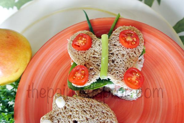 butterfly veggie sandwich thepaintedapron.com