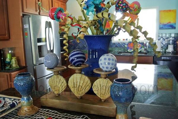 beach blue for 2 centerpiece thepaintedapron.com