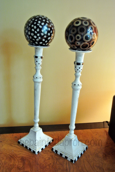 painted candlesticks thepaintedapron.com