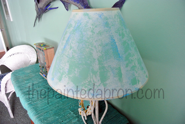 painted lampshade thepaintedapron.com