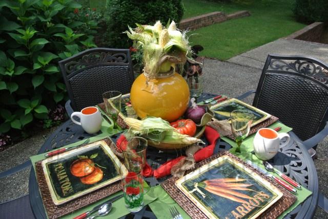 vegetable table thepaintedapron.com