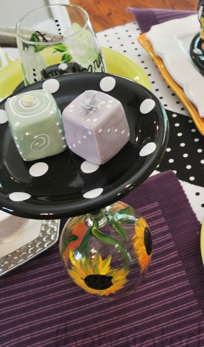 cake plate on wine glass 2 thepaintedapron.com