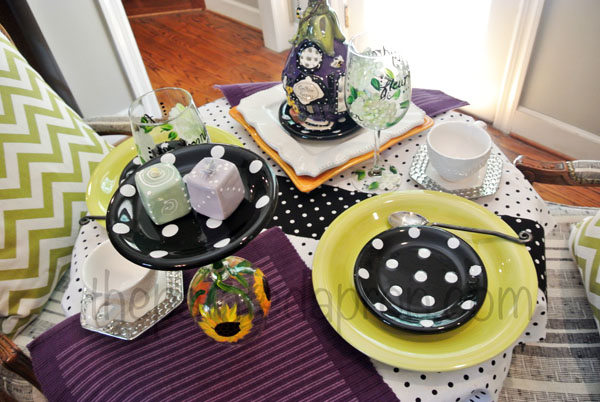 cake plate on wine glass thepaintedapron.com