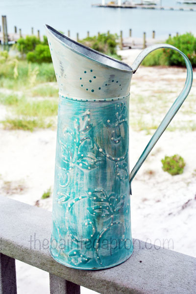 chalk paint pitcher thepaintedapron.com