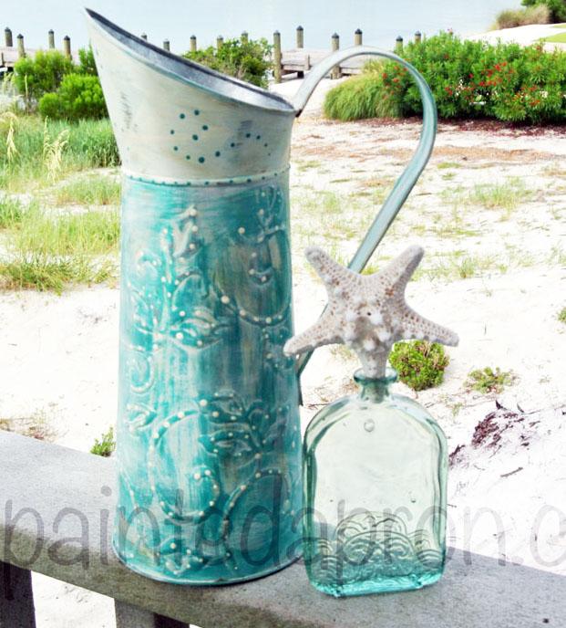 florence chalk painted pitcher thepaintedapron.com