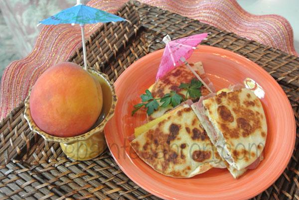 peach quesadilla 5 thepaintedapron.com